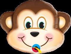 Mini Mischievous Monkey folija balon na palčki