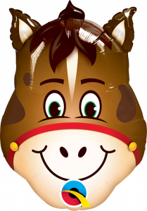 Mini Hilarious Horse folija balon na palčki