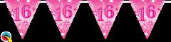 Zastavice 16 Pink Sparkle 3,6m (16 zastavic)