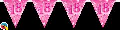 Zastavice 18 Pink Sparkle 3,6m (16 zastavic)