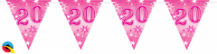 Zastavice 20 Pink Sparkle 3,6m (16 zastavic)