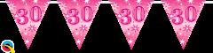 Zastavice 30 Pink Sparkle 3,6m (16 zastavic)