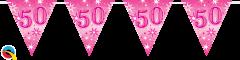 Zastavice 50 Pink Sparkle 3,6m (16 zastavic)