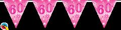 Zastavice 60 Pink Sparkle 3,6m (16 zastavic)
