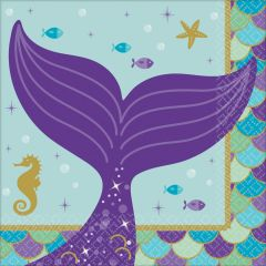 Mermaid Wishes serviete 25x25cm