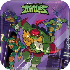 Rise Of The Teenage Mutant Ninja Turtles krožniki 18 cm