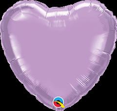 Mini srce folija balon na palčki 10 cm - Pearl Lavender