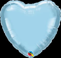 Mini srce folija balon na palčki 22,5 cm - Light Blue