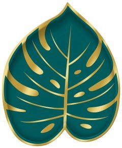 Key West krožnik palmov list