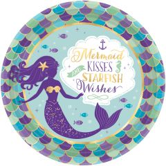 Mermaid Wishes krožniki 23 cm