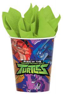 Rise Of The Teenage Mutant Ninja Turtles kozarčki 266ml