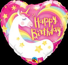 Mini Bday Magical Unicorn folija balon na palčki