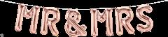 Mini folija balon napis Mr(s)&Mrs RoseGold