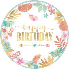 BOHO Birthday Girl krožniki 27 cm