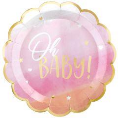 Oh Baby Girl krožniki 27 cm