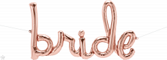 Napis Bride RoseGold folija balon