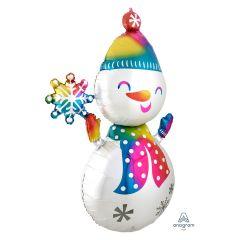 Maxi Satin Infused Snowman folija balon