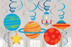 Blast off Birthday viseča dekoracija