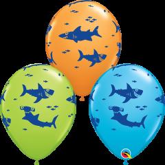 Lateks baloni 28cm Fun Sharks! Special Ast