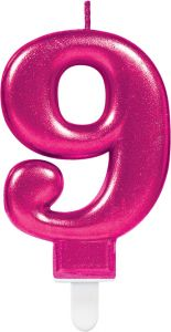 Pink svečka 9