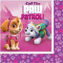 Pink Paw Patrol serviete 33x33 cm