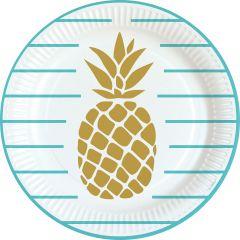 Pineapple Vibes krožniki 23 cm
