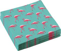 Flamingo Paradise serviete 33x33 cm