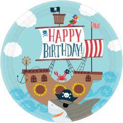 Ahoy Birthday krožniki 23 cm