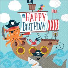 Ahoy Birthday serviete 33x33 cm