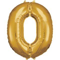 Folija balon številka 0 Gold