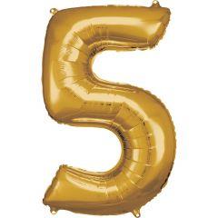 Folija balon številka  5 Gold