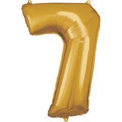 Folija balon številka  7 Gold