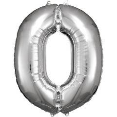 Folija balon številka 0 Silver