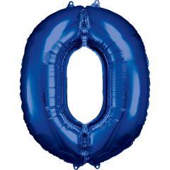 Folija balon številka 0 Blue