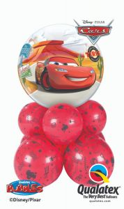 Bubble balonska dekoracija Lightning McQueen